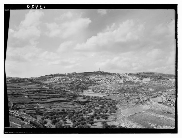 """Distant view, Bethany & Olivet from Abu Dis slope, for """"Life of our Lord"""""""