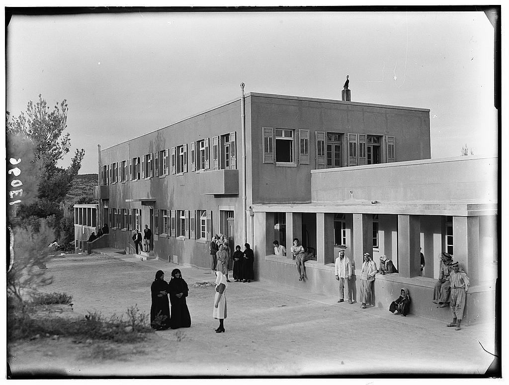 Dr. C. MacLean, Ajlun. Gilead Mission Hospital. Hospital building, closer up