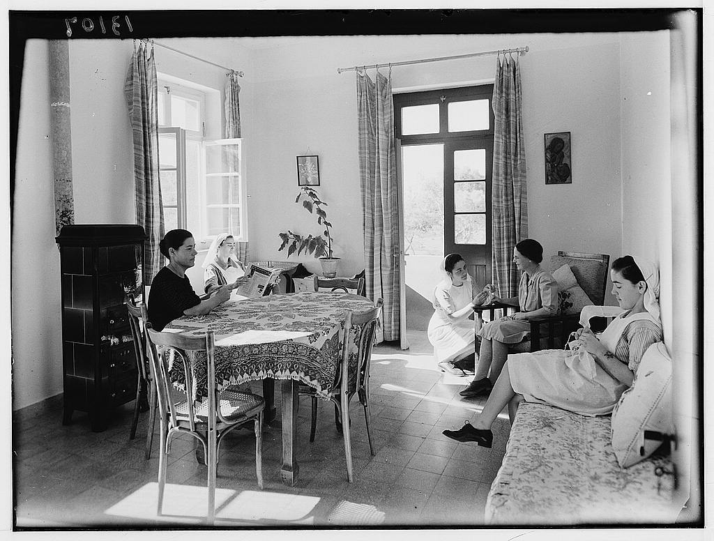 Dr. C. MacLean, Ajlun. Gilead Mission Hospital. The doctor's (Dorey) sitting room