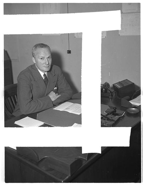 Dr. D.F. Morgan, Consultant on Chemical and Allied Products, Office of Production Management (OPM). Formerly with Scudder, Stevens and Clark, New York City