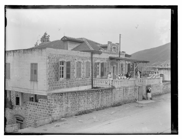 [Dr. H. Torrance, Tiberias. Lake view, House of Scots Mission fr[om] Hospital]