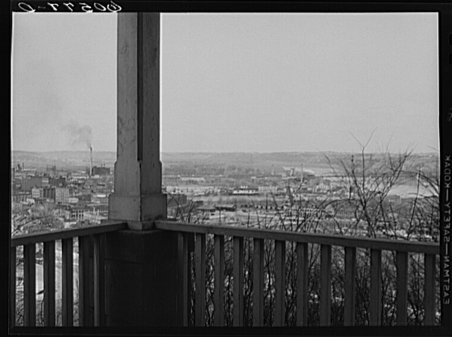 Dubuque, Iowa, from front porch of house on the bluff
