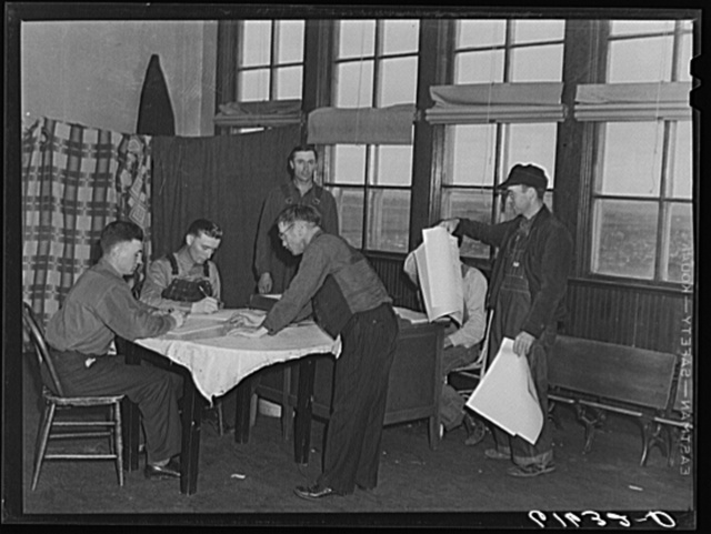 Waiting to vote  Presidential election, November 1940