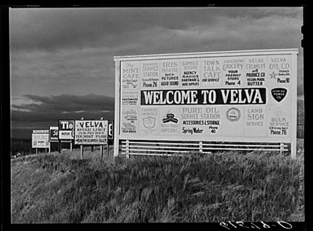 Entering Velva, North Dakota