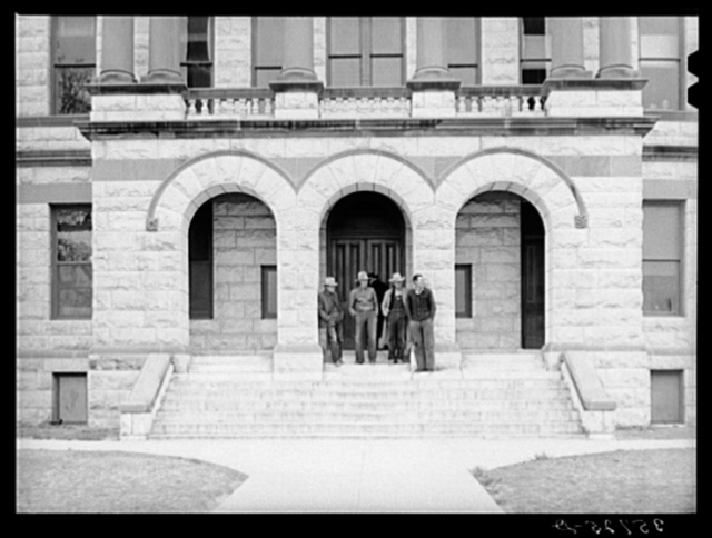 Entrance to courthouse. Gatesville, Texas