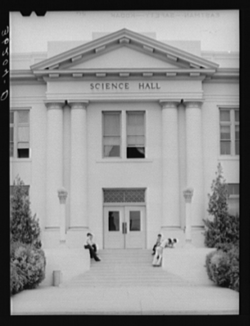 Entrance to the Science Hall of the Phoenix Union High School. Phoenix, Arizona