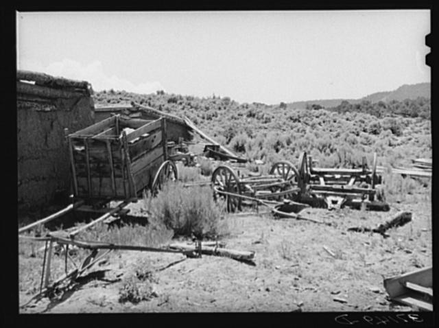 Equipment of Spanish-American farmer. Amalia, New Mexico