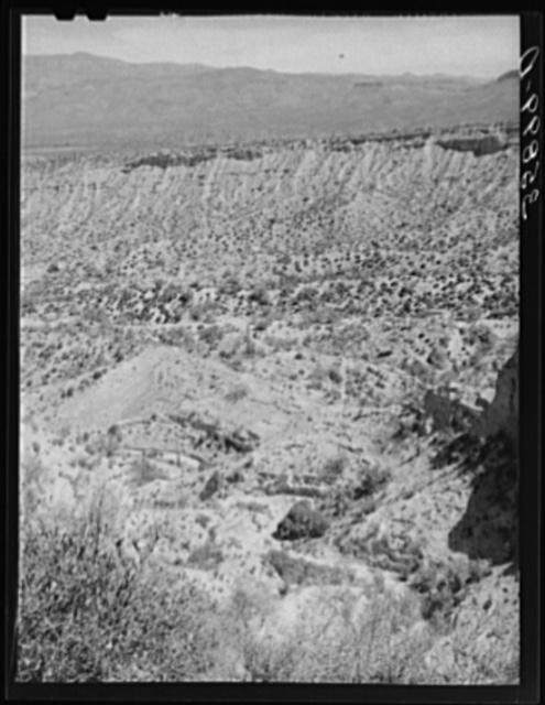 Eroded canyon along the Apache Trail in Gila County, Arizona