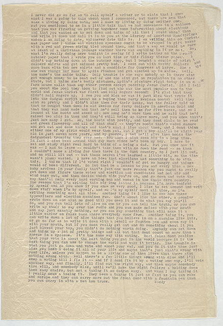 Essay from Woody Guthrie to Alan Lomax, ca. November 1940