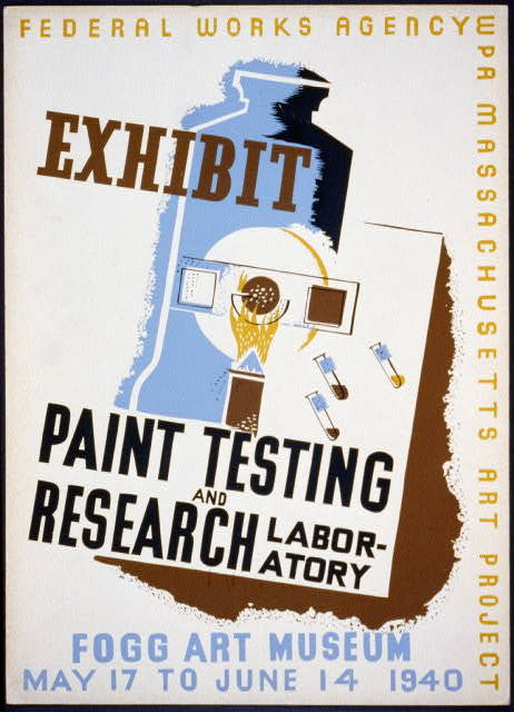 Exhibit Paint testing and research laboratory : Fogg Art Museum.