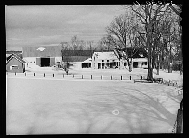 Farm of R.W. Cassidy. Putney, Vermont. He owns about two hundred acres. Has lived there about seventeen years