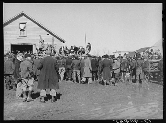 Farmers at auction. Zimmerman farm near Hastings, Nebraska