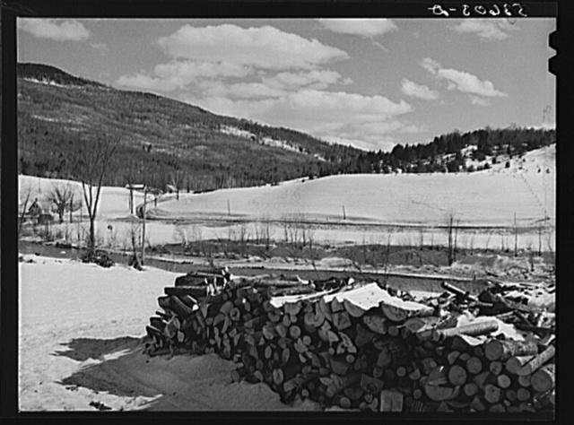 Farmlands and timber near Bridgewater, Vermont