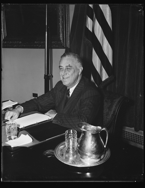 FDR [Franklin Delano Roosevelt] ON HIS 58TH BIRTHDAY