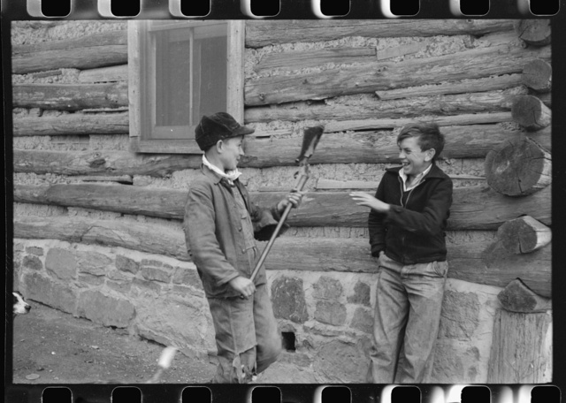 FSA (Farm Security Administration) borrower's son and his friend. They had just returned from hunting. Knox County, Kentucky