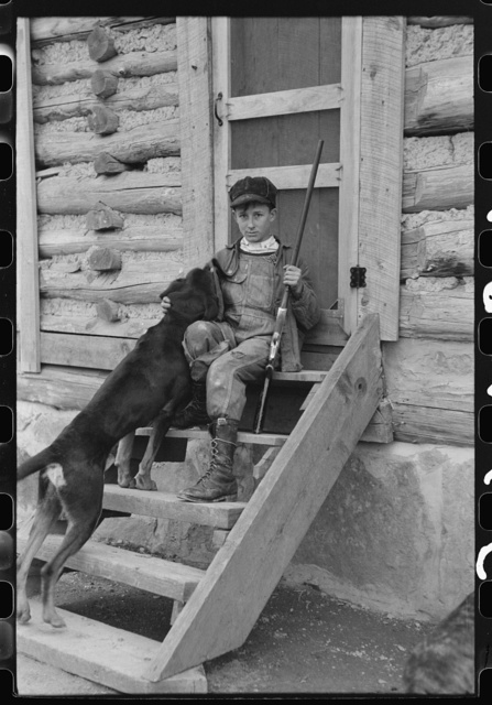 FSA (Farm Security Administration) borrower's son who had just returned from hunting. Knox County, Kentucky