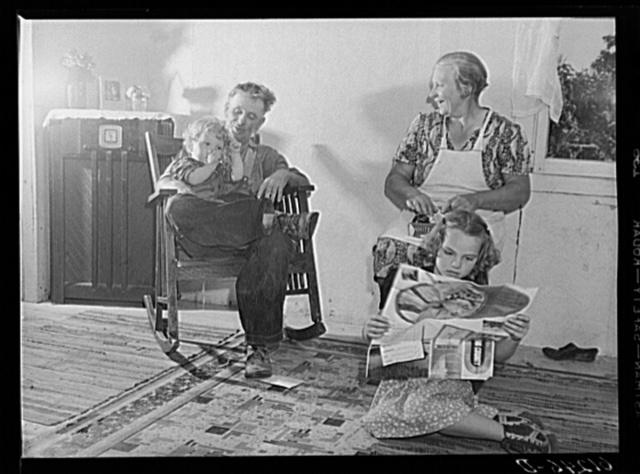 FSA (Farm Security Administration) rehabilitation borrower and part of family. Door County, Wisconsin