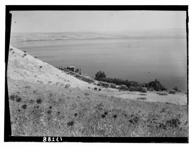 Galilee. North of Tiberias, Y.M.C.A. property showing the sea and Dr. Harte's house