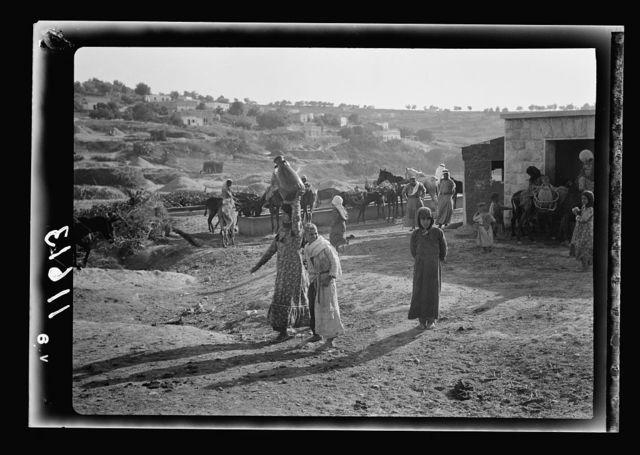 Galilee trip. Saffourieh (near Nazareth). Saforis (Sepphoris). Water troughs for animals near the station