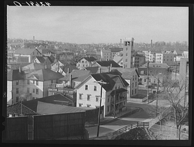 General view of Woonsocket, Rhode Island
