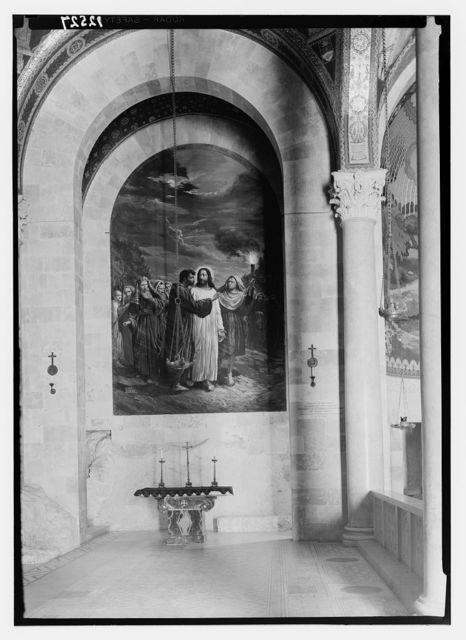 Gethsemane Basilica, painting at head of left (north) aisle, the Betrayal