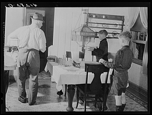 Getting ready to go to the market at the farm of Ralph Reitz, near Falls Creek, Pennsylvania. He is a member of the Tri-County Farmers Coop Market at Du Bois, Pennsylvania