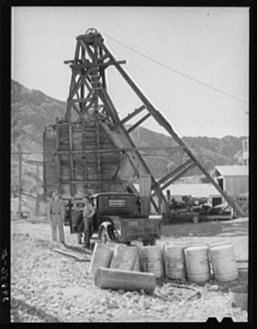 Gold miner. El Dorado Canyon, Clark County, Nevada