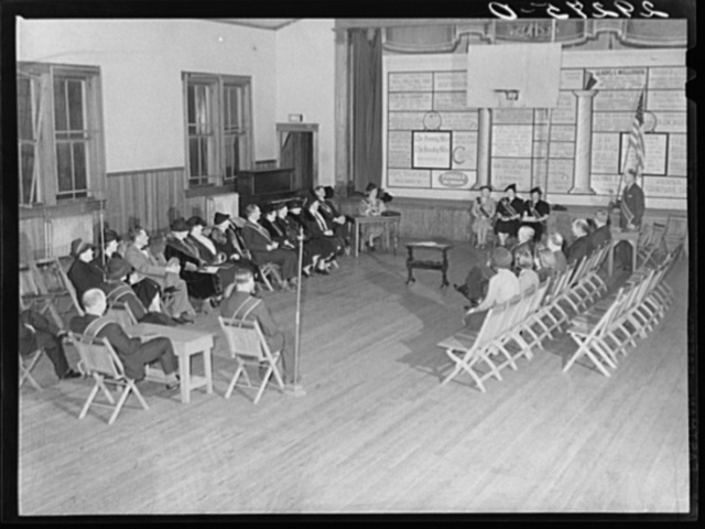 Grange meeting in schoolhouse. Fairfax County, Virginia