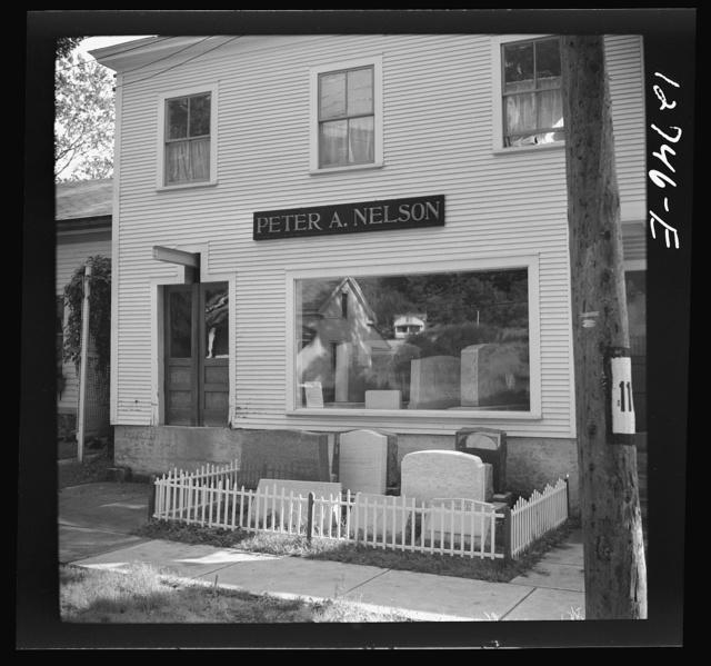 Gravestone shop. Bristol, Vermont