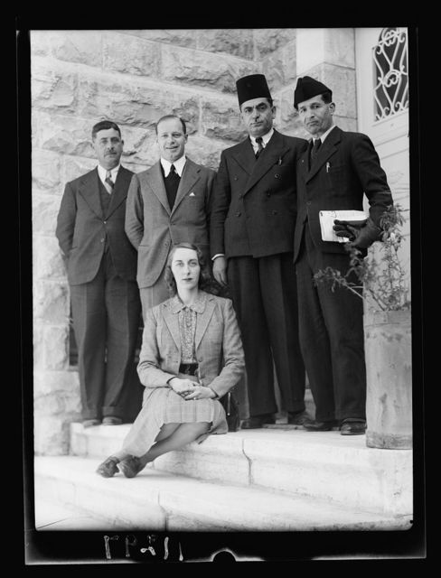 Group at Spanish consulate, April 1st 1940 with Spanish lady journalist