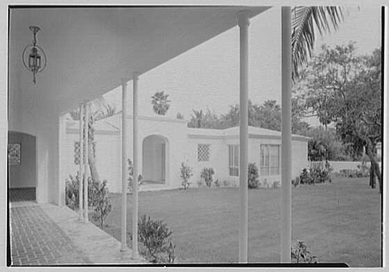 Harry R. Playford, residence at 415 Brightwaters Blvd., St. Petersburg, Florida. Loggia, to entrance I