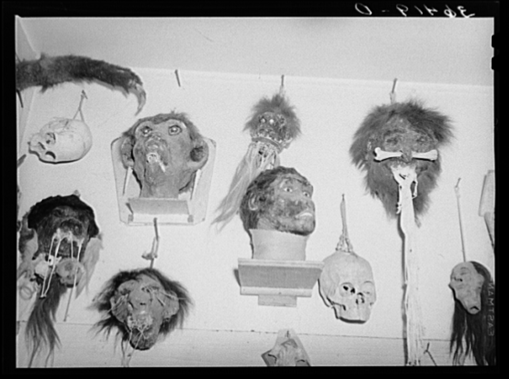 Heads imagined and made by Homer Tate. Safford, Arizona