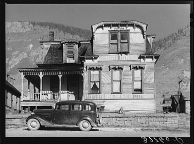 House dating from the early boom days of Silverton, Colorado