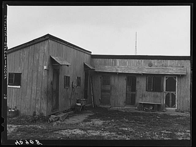 Housing for New Jersey migratory onion pickers. Near Cedarville, New Jersey