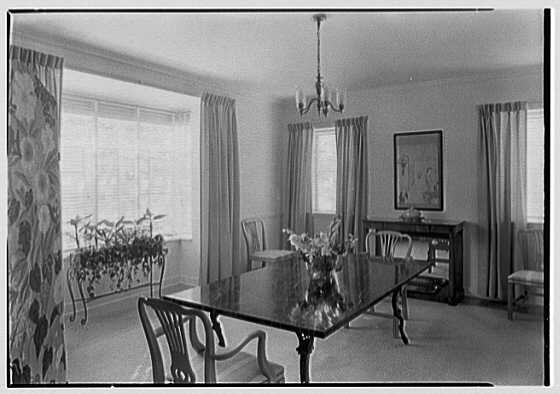 H.T. Morgan, residence at 31 LaGorce Cir., Miami Beach, Florida. Dining room I