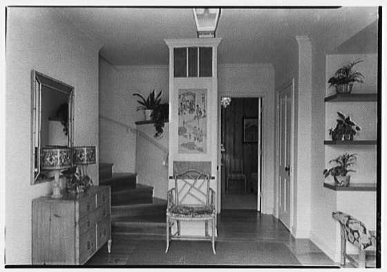 H.T. Morgan, residence at 31 LaGorce Cir., Miami Beach, Florida. Entrance hall
