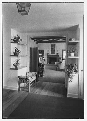 H.T. Morgan, residence at 31 LaGorce Cir., Miami Beach, Florida. Entrance hall, to living room