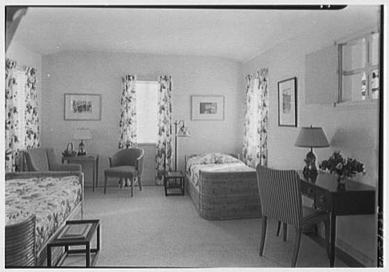 H.T. Morgan, residence at 31 LaGorce Cir., Miami Beach, Florida. Lower guest room