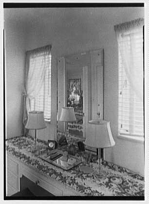 H.T. Morgan, residence at 31 LaGorce Cir., Miami Beach, Florida. Master bedroom, dressing room