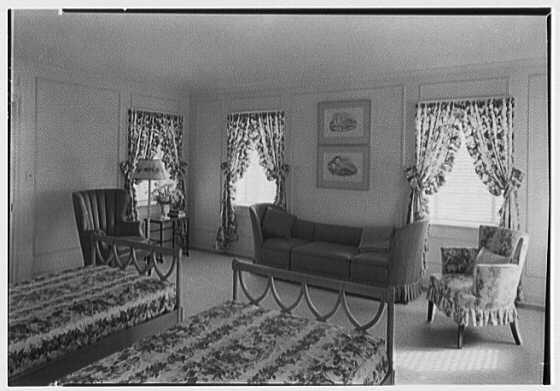 H.T. Morgan, residence at 31 LaGorce Cir., Miami Beach, Florida. Master bedroom