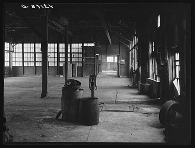 Interior of abandoned Howard Stove Works in Beaver Falls, Pennsylvania