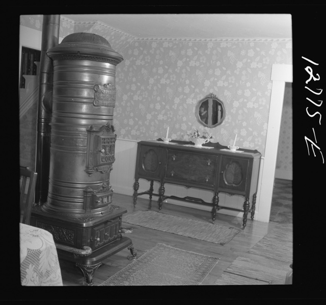 Interior of newly-furnished home of prosperous dairy farmer. Near Bristol, Vermont