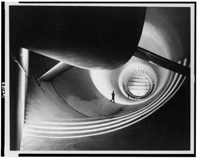 Interior view of the long air return passage in the 16-foot transonic wind tunnel at Langley Aeronautical Laboratory ... / William P. Taub.
