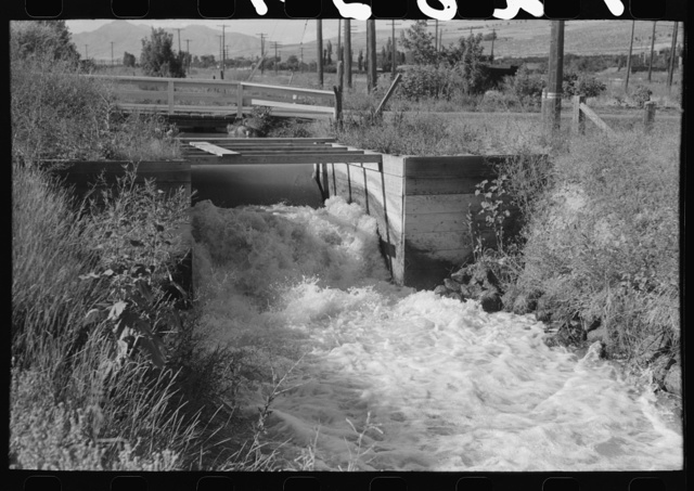 Irrigation ditch in Box Elder County, Utah