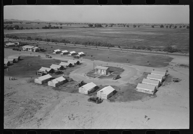 Isolation unit at the Agua Fria Migratory Labor Camp, Arizona. These units are designed for isolation of persons with contagious diseases of temporary nature