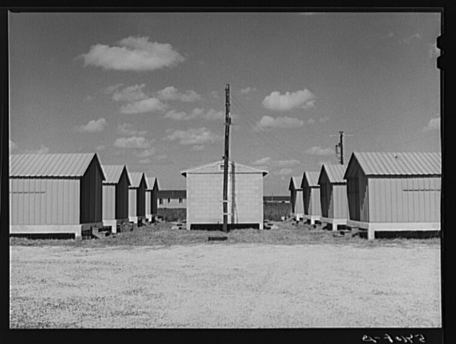 Isolation unit for contagious diseases at Osceola migratory labor camps. Belle Glade, Florida