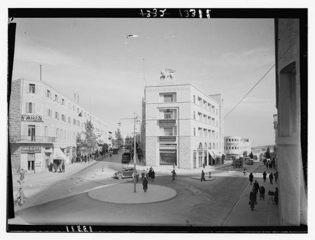 Italian bldg. [i.e., building], Jer., Assicurzacion J'lem [i.e., Assicurazioni Generali, Jerusalem]