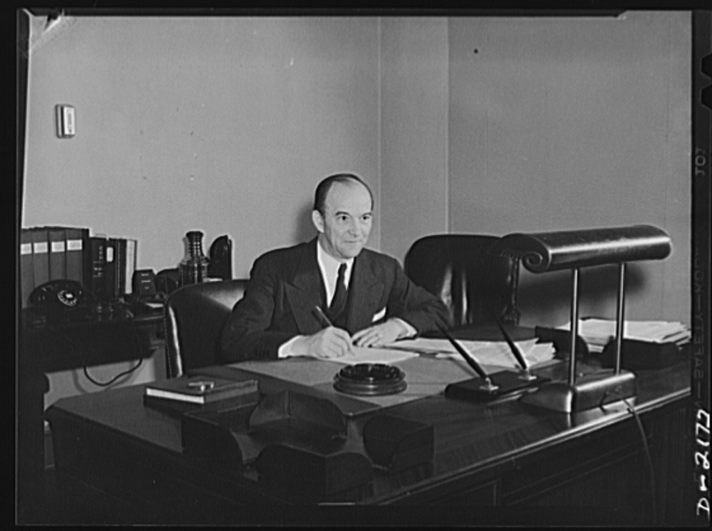 James G. Rolunson [or Robinson], Administrative Officer of War Production