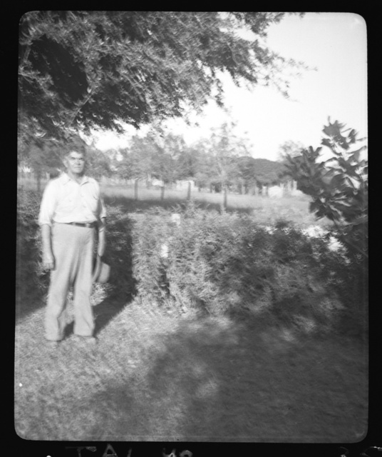 [James Martin, Merryville, Louisiana, at home of H.R. Weaver]