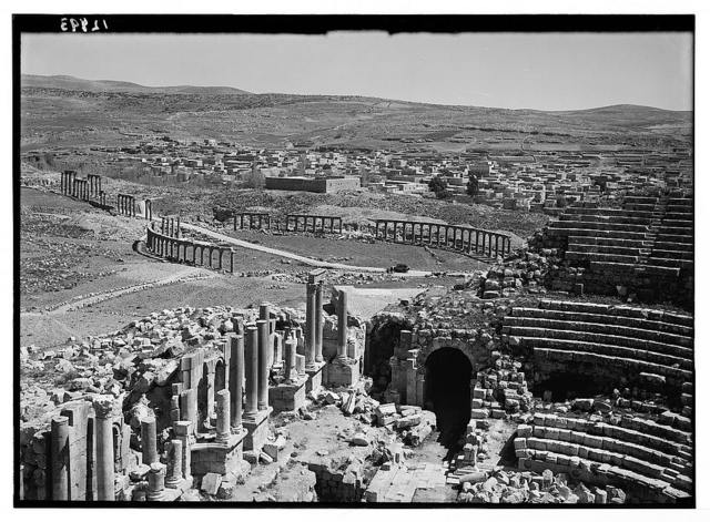 Jerash. Southern theatre & forum, etc.
